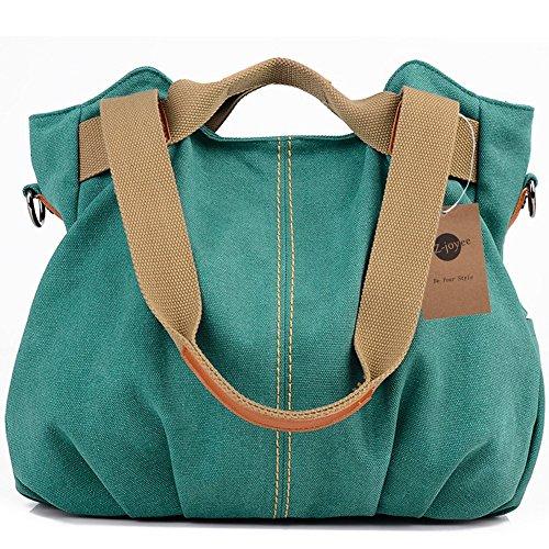 Z-joyee Women's Ladies Casual Vintage Hobo Canvas Daily Purse Top Handle Shoulder Tote Shopper Handbag Satchel (Cotton Purse)