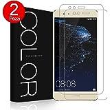G-Color 2×Pellicola Vetro P10 Lite, Pellicola Vetro Temperato, Resistente ai Urti Protezione dello Schermo per Huawei P10 Lite-(Garanzia a Vita)