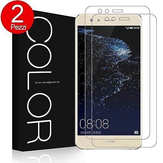 174 opinioni per 2× Pellicola Vetro Temperato Huawei P10 Lite, G-Color Pellicola Protettiva Ultra