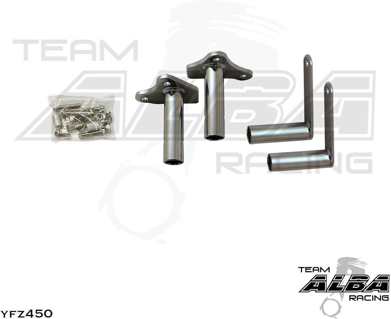 Yamaha YFZ 450 YFZ450 Nerf Bars Alba Racing Black Black 199 T1 BB