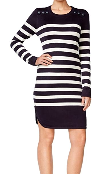 4105fcb6be5 Jessica Howard Womens Knit Striped Sweaterdress Navy S at Amazon Women s  Clothing store