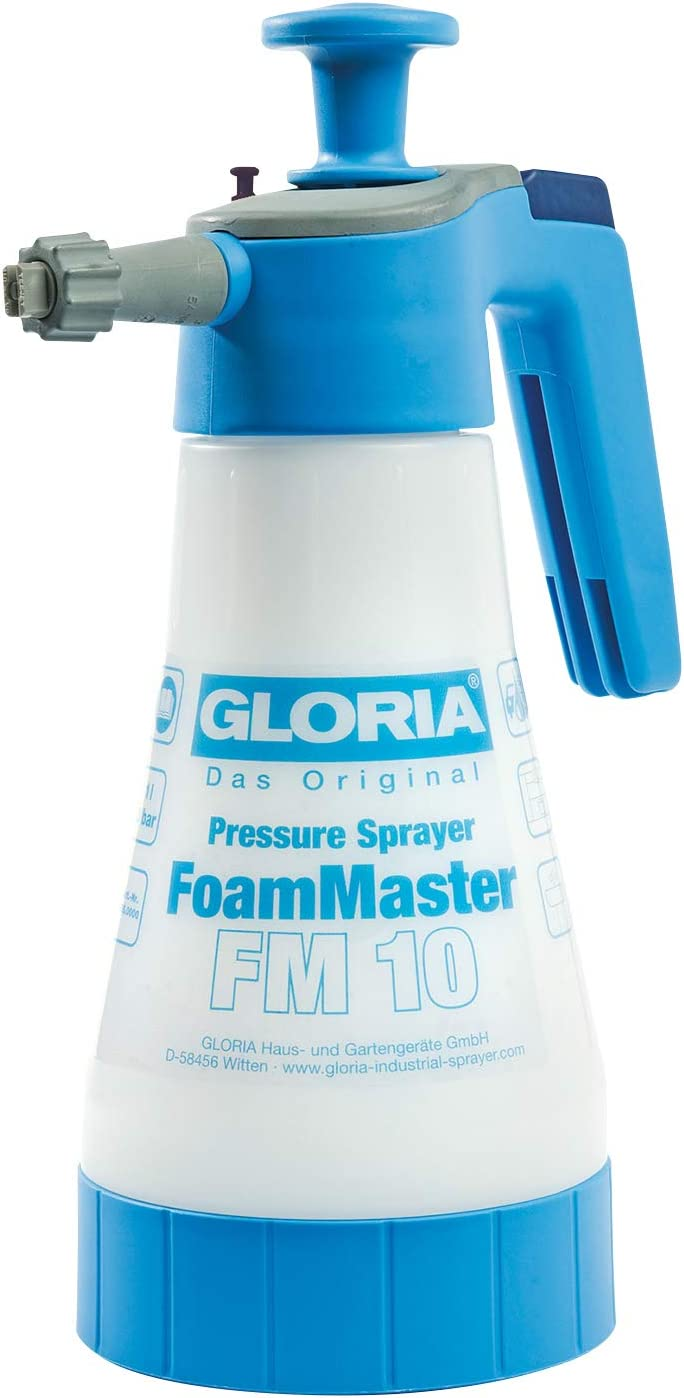 Gloria Foammaster Fm 10 Schaumsprüher 1 L Füllinhalt Austauschbare Schaumpatronen Drucksprüher Zur Autoreinigung Garten