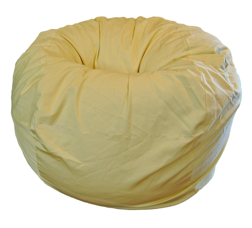 Ahh! Products Yellow Organic Cotton Large Bean Bag Chair