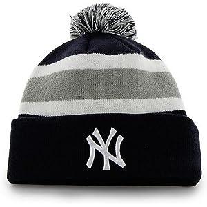 e4b4bc1021a  47 Brand Breakaway Cuff Beanie Hat with POM POM - MLB Cuffed Winter Knit  Baseball.