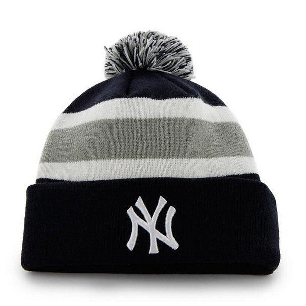 MLB Cuffed Winter Knit Baseball Cap 47 Brand Breakaway Cuff Beanie Hat with POM POM