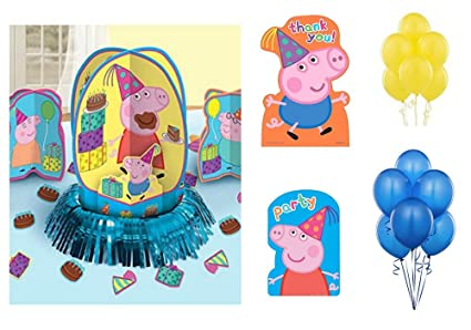 Amazon.com: Peppa Pig Globos de fiesta de cumpleaños ...