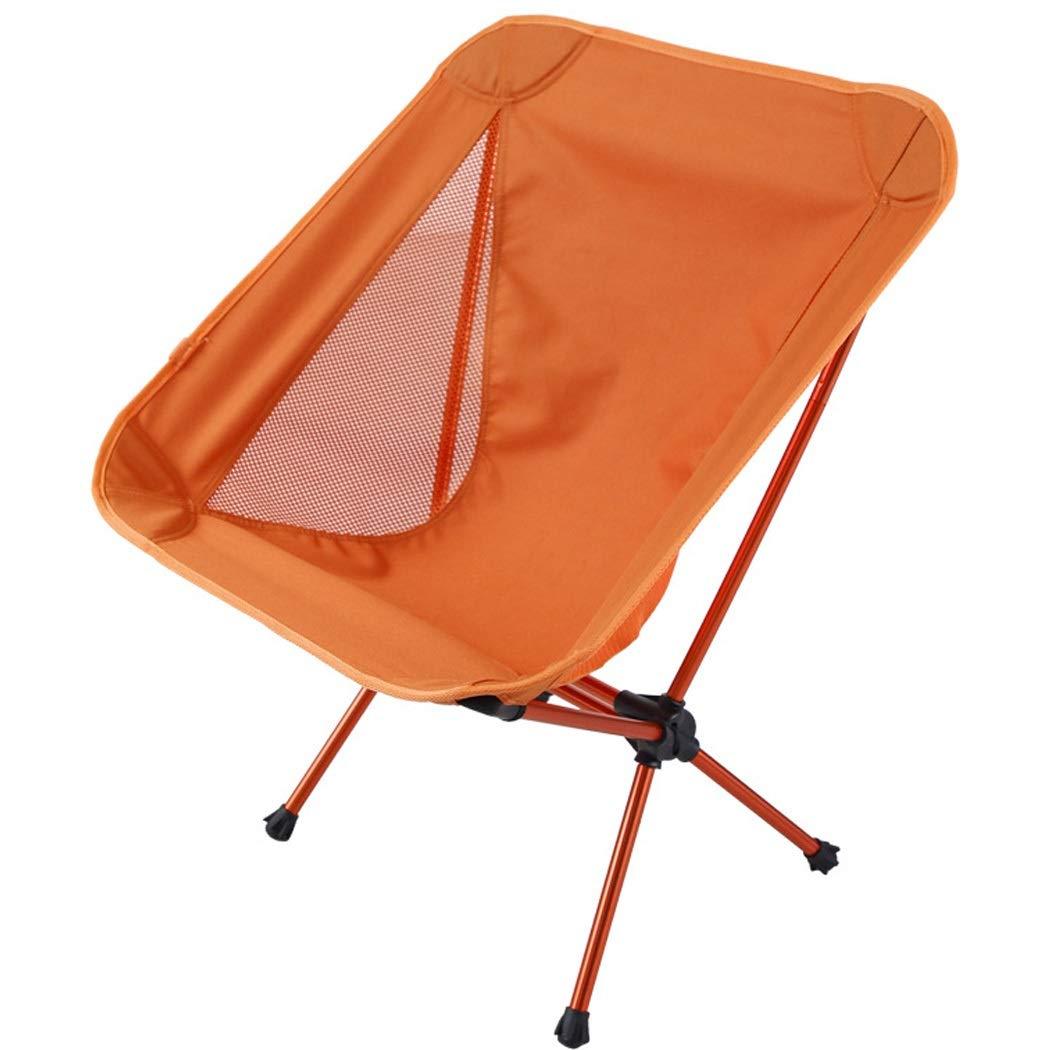 Folding Chair Aluminum Outdoor Folding Chair Beach Chair Fishing Chair Light Portable Chair (Color : Orange, Size : 663156cm)