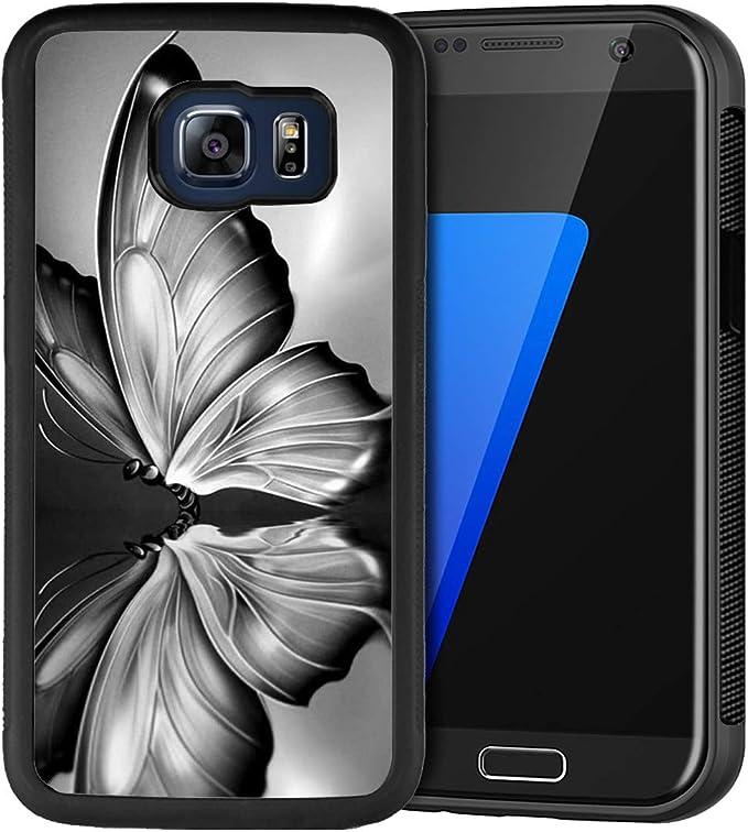 Coque Samsung Galaxy S6 Edge, Peinture Loup Souple en Caoutchouc ...