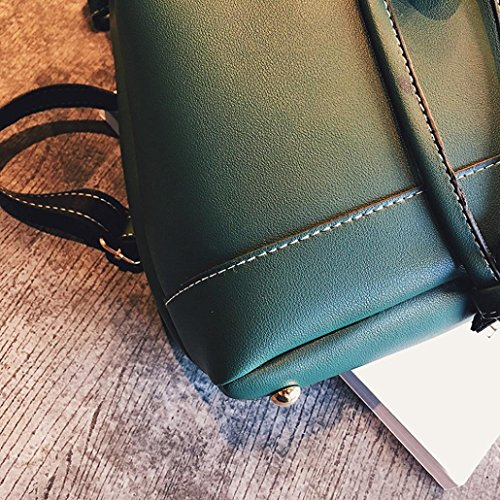 TUDUZ Leather Women Girls Brown School Fashion Backpacks Travel Backpack Hiking Bags Rucksack Backpack Teenagers Green Womens Xx5wqEaHT