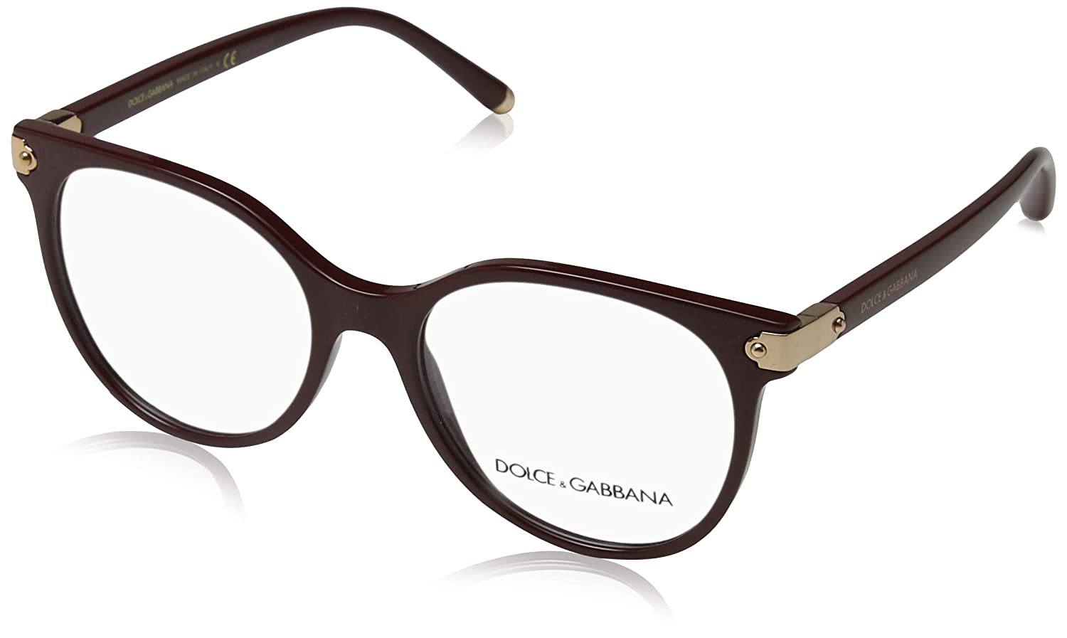 Amazon.com: Gafas Dolce & Gabbana DG 5032 3091 BORDEAUX ...