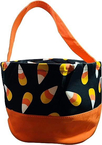 Personalizado dulce o travesura Bolsas de Halloween a Rayas Naranja Dulce Halloween tratar