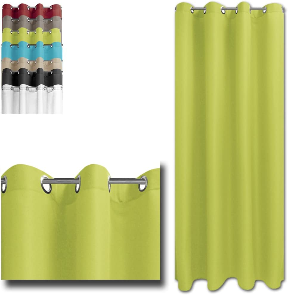 Sand JEMIDI /Ösenschal Blickdicht 140cm x 245cm /Ösen Schal Gardine Vorhang Fenster Deco /Öse Schlaufen
