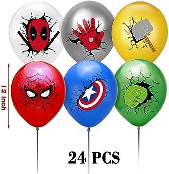 Luftballons f/ür Ihre Kinder Thema Partei Bevorzugung JIGMAXFUN Superheld Partei Deko Superhelden Party Dekoration Superhelden Banner