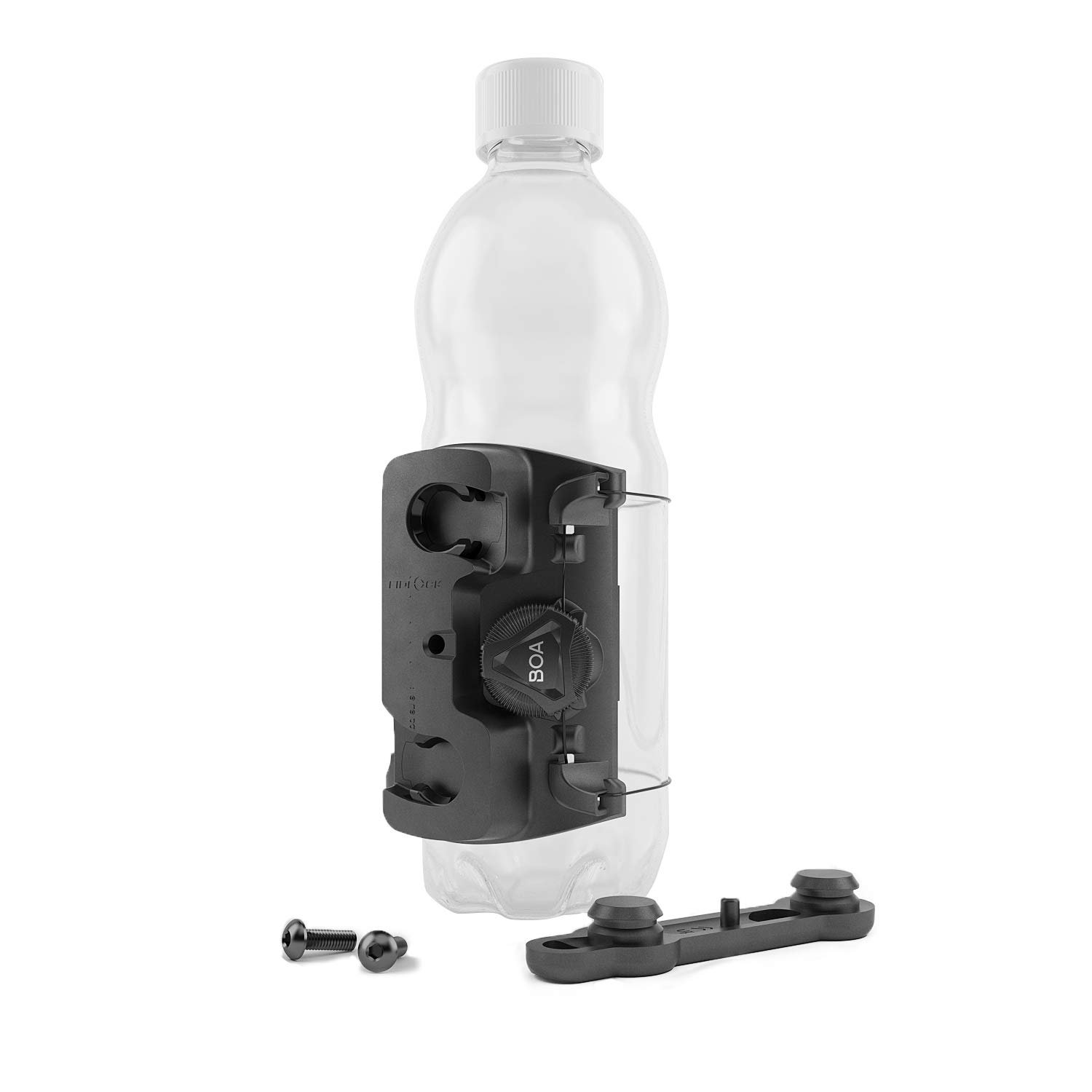 Fidlock Uni Connector Universal Bike Water Bottle Holder for Plastic Bottles or Accessories with Diameter up to 80 mm. Includes Twist Bike Base by FIDLOCK
