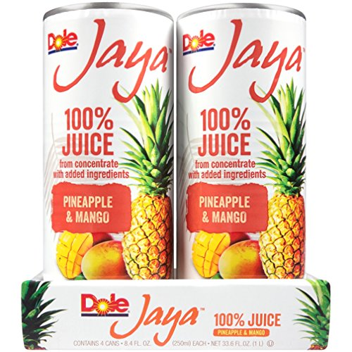 Dole Jaya Juice, Pineapple/Mango, 4 Count (Pack of (Mango Fruit Juice)