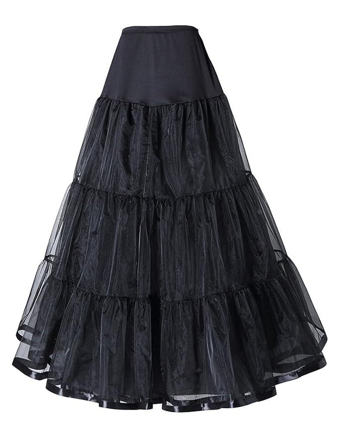 Victorian Hoop Skirt, Petticoat, Underwear Grace Boutik Women Wedding Gown Underskirt Long Petticoat Slips  AT vintagedancer.com