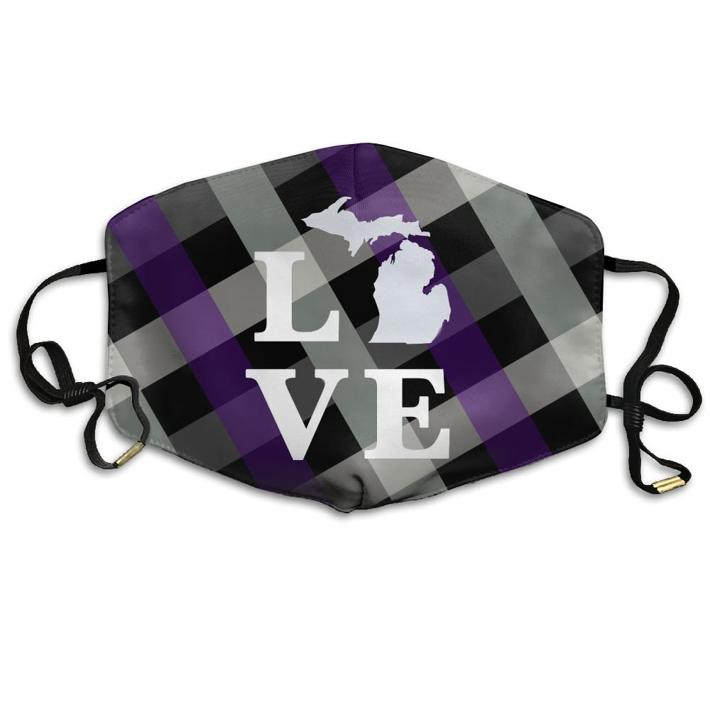 Amazon.com: Michigan Love Reusable Anti Dust Face Mouth Cover Mask,Warm  Windproof Mask: Kitchen & Dining