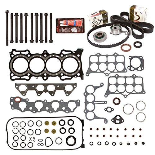 - Evergreen HSHBTBK4020 Head Gasket Set Head Bolts Timing Belt Kit Fits 94-97 Honda Accord 2.2 F22B2 F22B6
