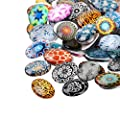 Pandahall 200PCS 10mm Mixed Color Lucky Evil Eye Glass Flatback Scrapbooking Dome Cabochons from PandaHall