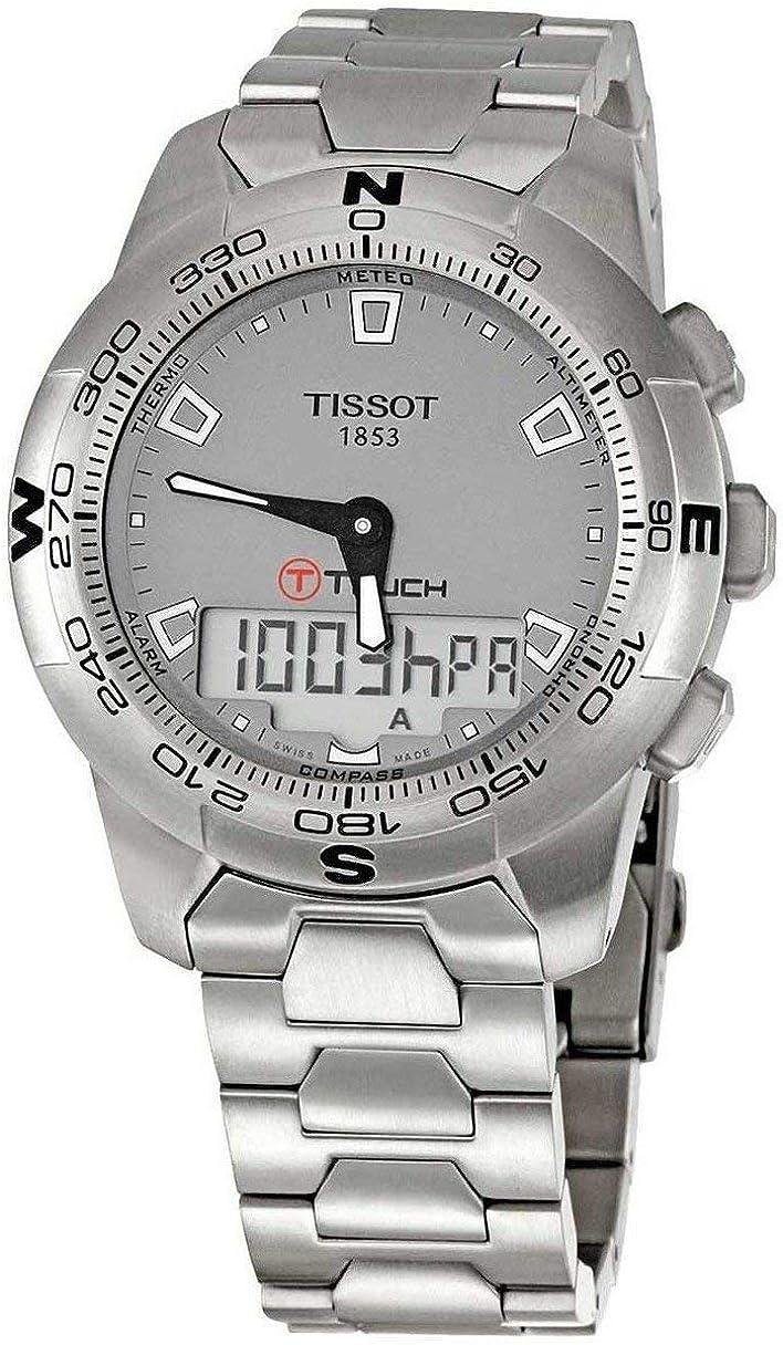 Tissot T-Touch T0474201107100 - Reloj de Caballero automático, Correa de Piel Color Negro