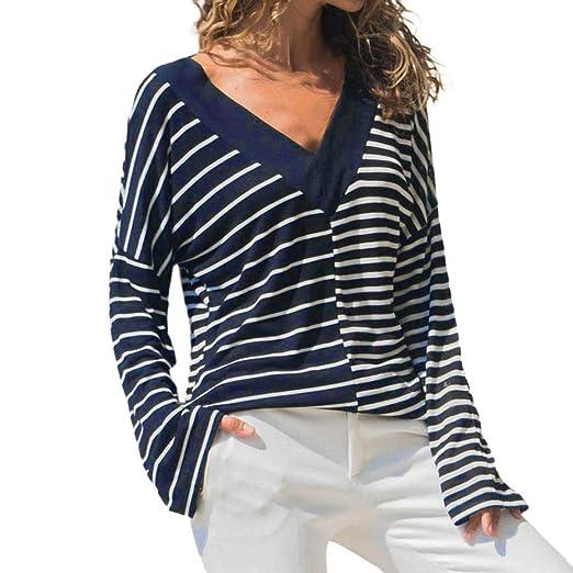 1ed935ac21c Women Fashion Casual Striped T Shirt