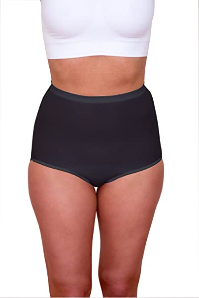 307051c1ae64f Body Force Women's High-Waist Brief Underwear (3-pack) Size 4-7 Black at Amazon  Women's Clothing store: