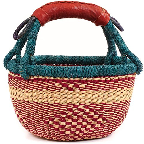 Fair Trade Ghana Bolga African Mini Market Basket 7-9'' Across, 68777 by Baskets of Africa