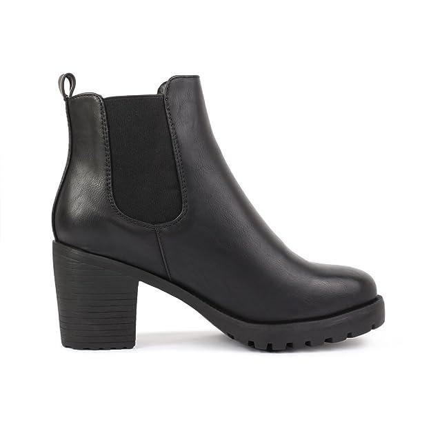 best-boots Damen Plateau Stiefelette Chelsea Boots  Amazon.de  Schuhe    Handtaschen 98a200bd95