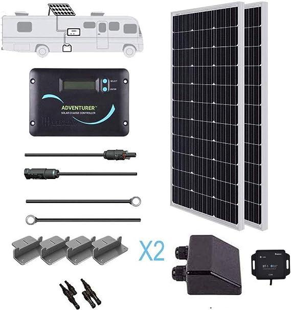 Renogy 200 Watts 12 Volts Monocrystallin Panel Solar RV Kit