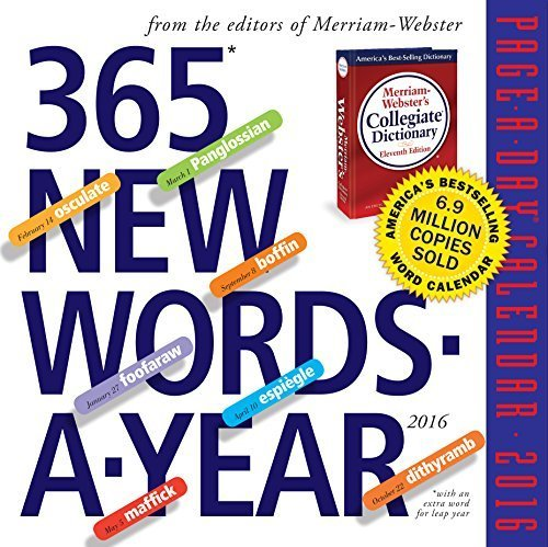 365 New Words Page-A-Day Notepad + Calendar 2016 (2016 Calendar) by Inc. Merriam-Webster (2015-07-02)