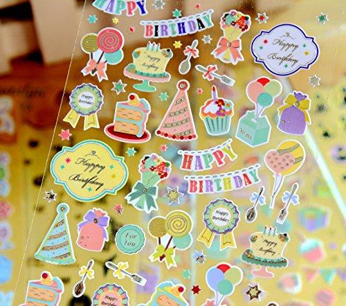 Trytry 8 Sheets DIY Cute Kawaii Cool Sweet Small Assortment Golden Decorative Diary Album Calendar Sticker Scrapbooking Craft For Kids Teacher Kindergarten Phone