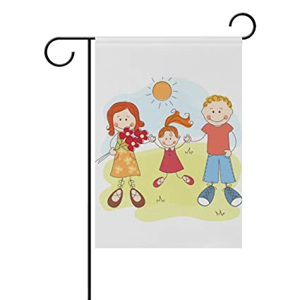 Amazon com : ClustersN Happy Family Double-Sided Printed