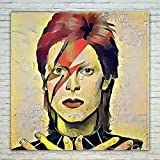 Westlake Art - David Bowie Music Artist Pop Art 18 inch Modern Poster Prints Artwork Abstract Paintings Pictures Printed Wall Art for Home Office Decorations