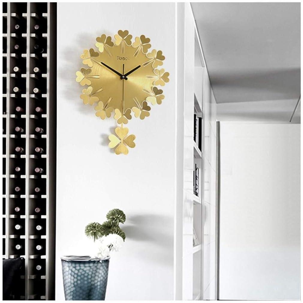 Horloge murale Reloj de pared, trébol de cuatro hojas de metal ...