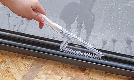 Cdet Cepillo ranurado mango largo cerdas cocina y aseo estufa de gas lavabo cepillo de limpieza limpio: Amazon.es: Hogar