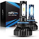 Marsauto 9005 LED Headlight Bulbs HB3 High Beam 6000K 8000LMs Cool White Light Bulbs Replacement for Halogen 2 Pack