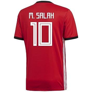 check out 38b63 d1ba1 fifb Egypt 2018 FIFA World Cup No.10 Mohamed Salah Men's ...