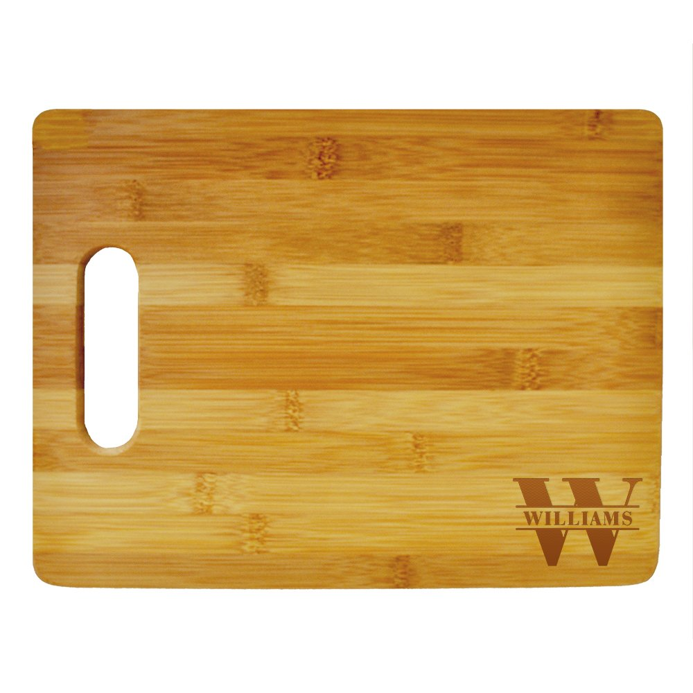 Custom Cutting Board Last Name Monogram Design - Wood Engraved Cutting Board - Personalized Bamboo Cutting Board - Custom Gifts - Anniversary Gift- Personalized Kitchen Supplies