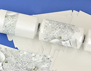 8 pearl white silver christmas make fill your own crackers kit 8 pearl white silver christmas make fill your own crackers kit solutioingenieria Images