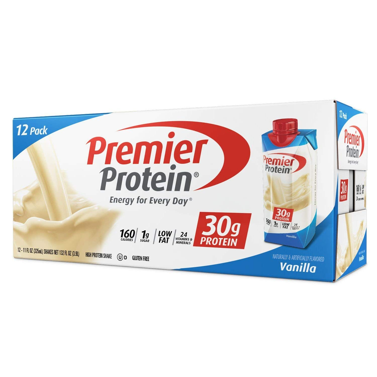 Premier Nutrition High Protein Shake, Vanilla, 11 oz. (Pack of 36) by Premier Protein (Image #1)