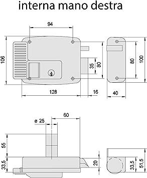 Cerradura eléctrica Cisa, 12 V, galvanizada, plateado, 11731601, 12V: Amazon.es: Bricolaje y herramientas