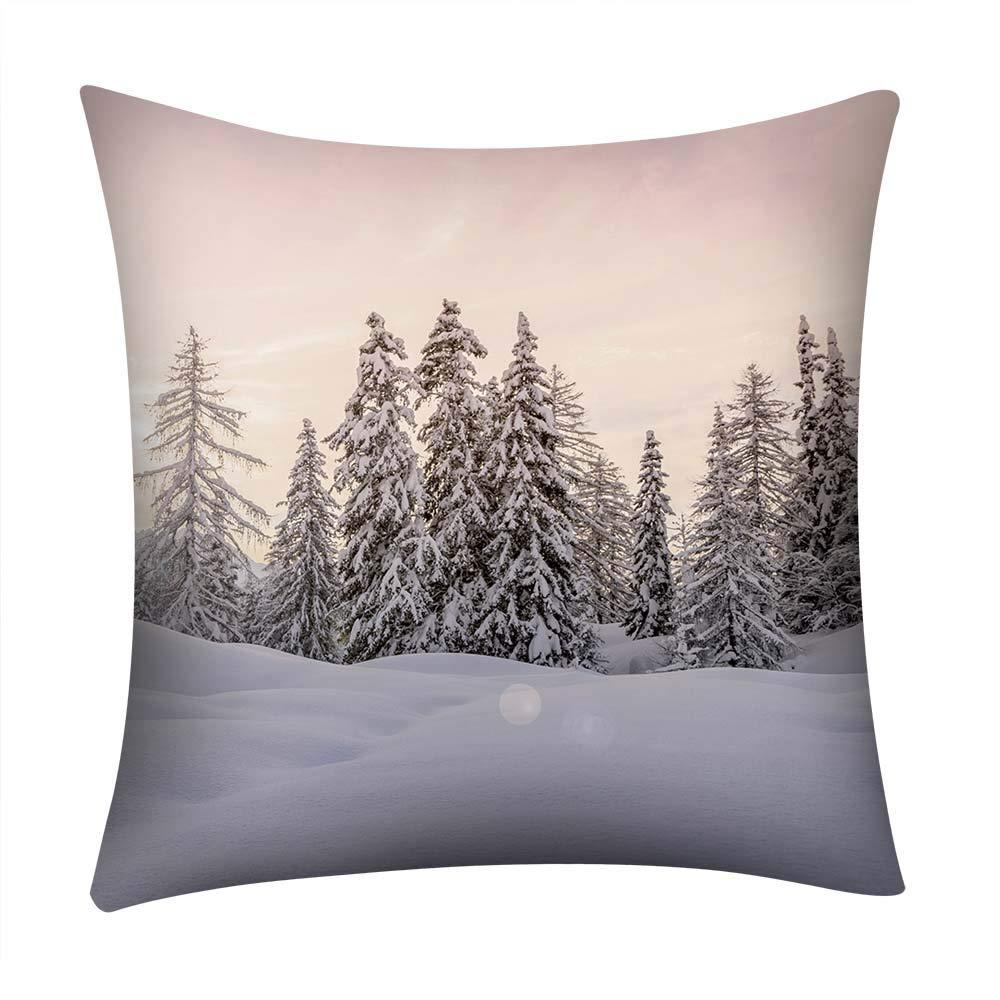 NUWFOR Print Pillow Case Polyester Sofa Car Cushion Cover Home Decor(I)