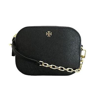 df51ca570a23 Tory Burch Black Emerson round cross body  Handbags  Amazon.com
