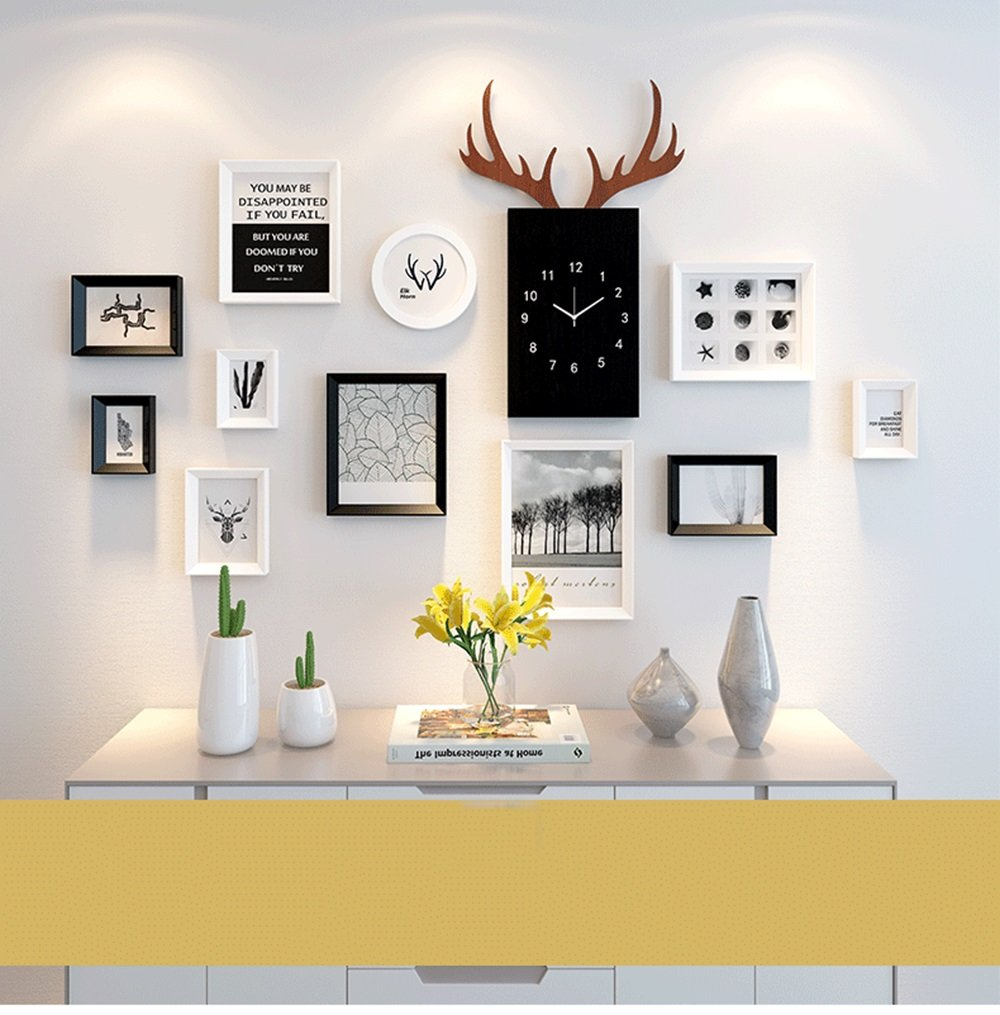 Picture frames modern photo frame collage solid wood black white wall hanging easy to install color 1 amazon co uk kitchen home