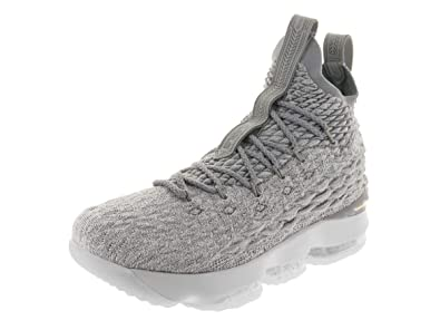 timeless design f4560 39814 Nike Youth Lebron 15 Boys Basketball Shoes Wolf Grey Cool Grey Metallic  Gold 922811
