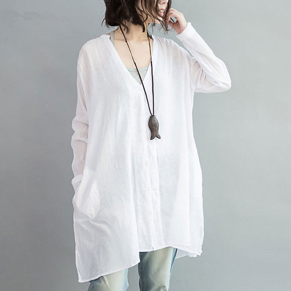 OrchidAmor Women Fashion V Neck Long Sleeve Casual Loose ...