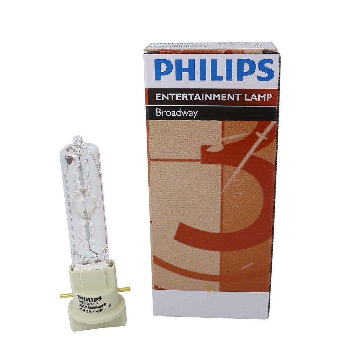 Philips MSR Gold 300/2 MiniFastFit 300W AC Lamp for DJ/Club Lighting