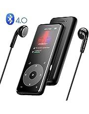 Bluetooth 4.0 8GB Metall MP3 Player mit 1,8 Zoll TFT Bildschirm und Lautsprecher, unterstützt bis zu 128G, von AGPTEK A16T (Verpackung MEHRWEG) Schwarz