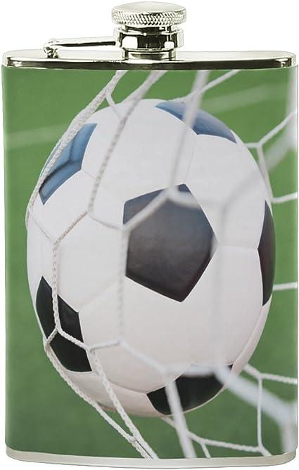 ALAZA balón de fútbol en red de portería petaca 8 oz A prueba ...