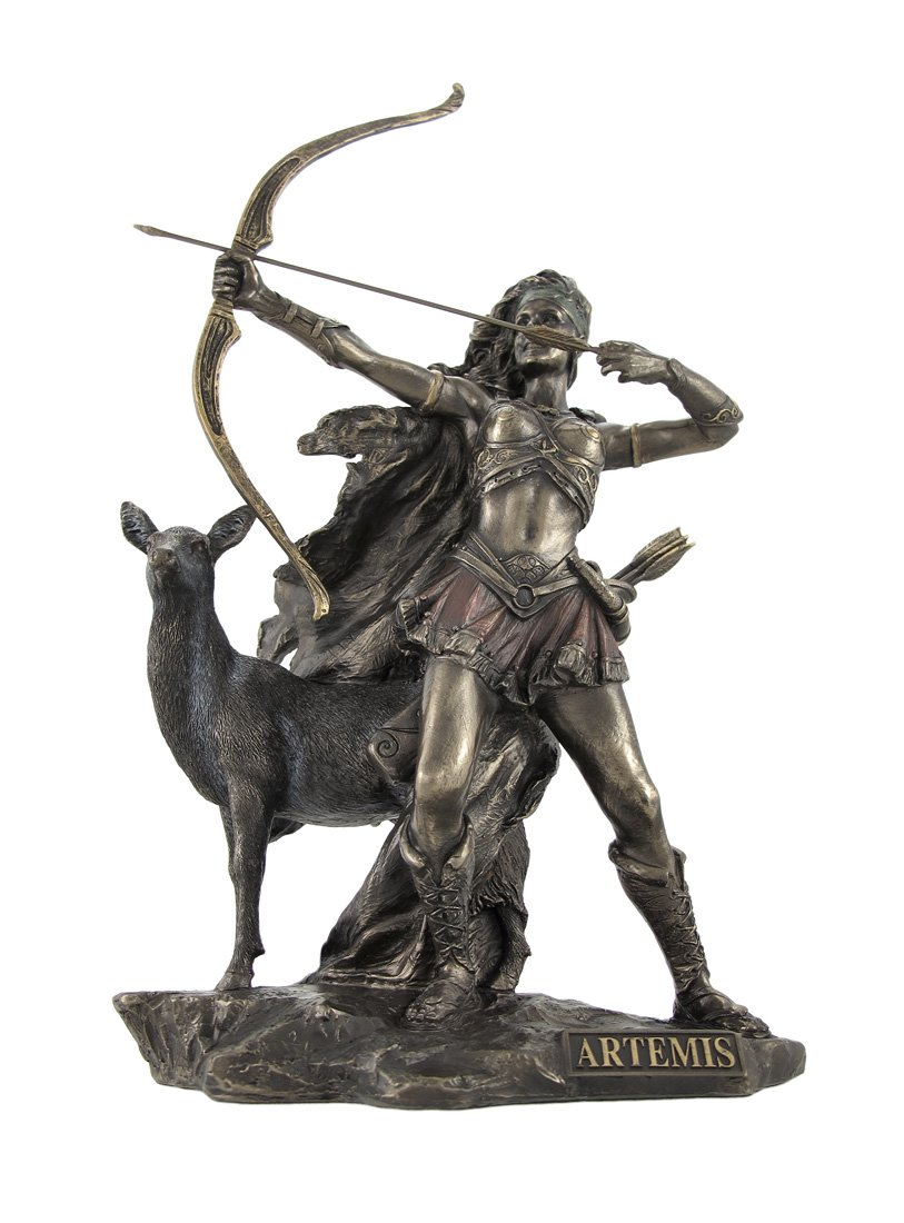 Bronzed Artemis Goddess of Hunting and Wilderness Statue Veronese WU75674A4
